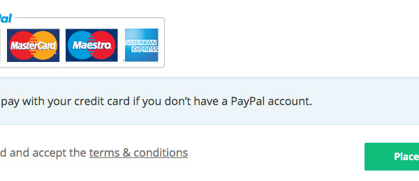 Replace PayPal logo WooCommerce