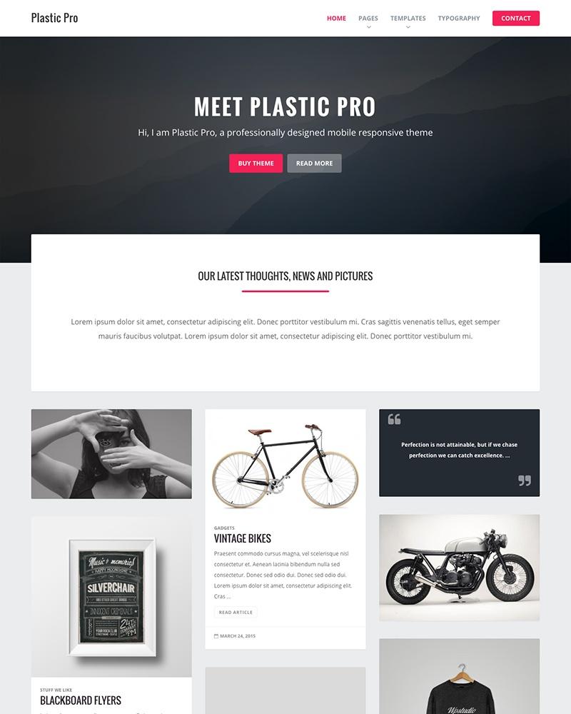 Plastic Pro Genesis Theme