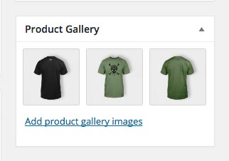 Product gallery back-end WordPress
