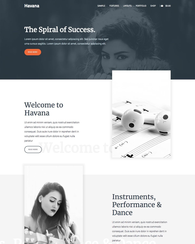 Genesis theme Havana Desktop
